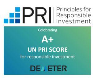 Demeter obtient le plus haut score A+ au « 2019 PRI Awards » décerné par les Principles for Responsible Investments de l'ONU